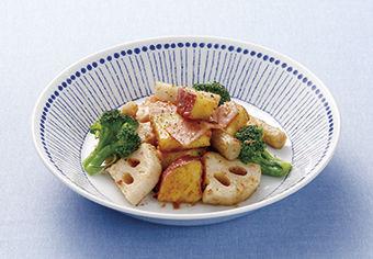 根菜のオイマヨ炒め