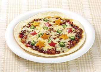 夏野菜の七夕カレーピザ