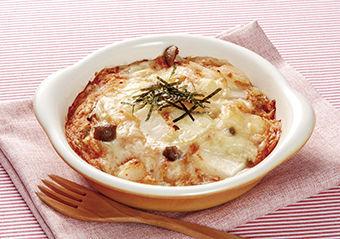 餅のキムチチーズグラタン