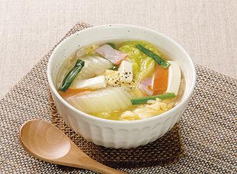 豆腐と野菜のとろとろスープ