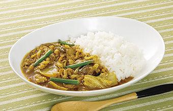 白菜と白ねぎの和風カレー