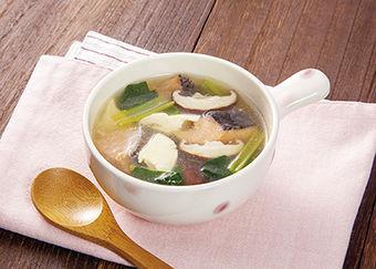 鮭と豆腐のとろとろスープ