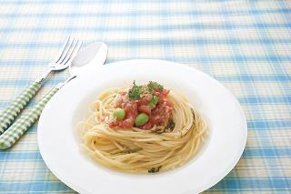 トマトのひんやり冷製パスタ