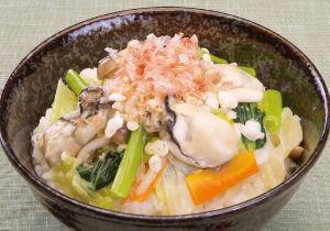 地産地消・広島県 かきと白菜のあんかけ丼