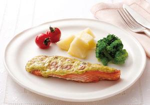 鮭のバジルマヨ焼き