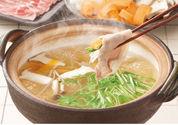 愛媛甘とろ豚とシャキシャキ野菜のしゃぶ鍋