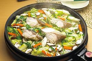 ぶりと白菜の蒸し鍋