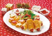 クリスマスのパイ包みフランクとナゲットピンチョス