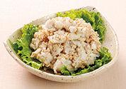 里芋とひき肉のマッシュサラダ