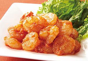 トマトケチャップで簡単中華 減塩えびチリ