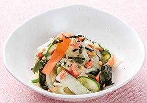 地産地消・山口県 大根と彩り野菜のさけ茶づけ和え