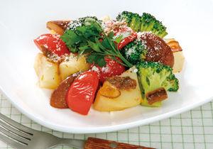 地産地消・高知県 フルーツトマトのバター風味炒め