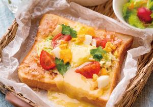 おかかマヨチーズのキャベツトースト