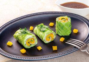 ハムとキャベツのエコロールサラダ
