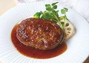 黒酢のれんこんハンバーグ