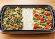 回鍋肉×夏野菜のぎゅうぎゅう焼き