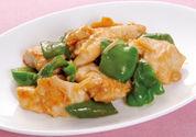 地産地消・高知県 ピーマンと鶏むね肉の生姜炒め