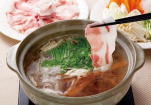 大根と水菜のシャキシャキ甘とろ豚しゃぶ鍋