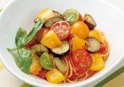 夏野菜マリネのトマトパスタ