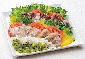 豚肉のソテー 白と緑のソース